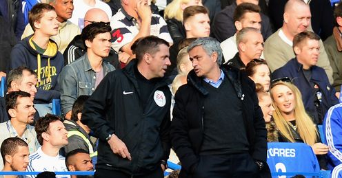 Jose Mourinho: Unhappy with the officiating at Stamford Bridge