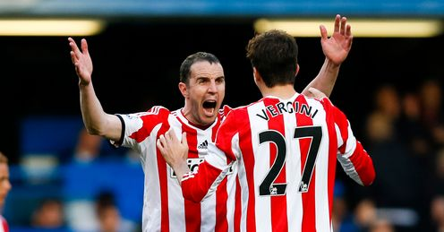 O'Shea and Vergini: Celebrating victory at the Bridge