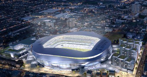 A view of Tottenham's new stadium