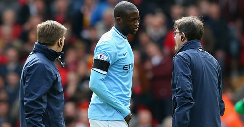 Yaya Toure: Man City are currently without key midfielder due to injury