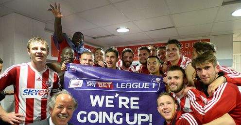 Brentford: Celebrate winning promotion to the Championship
