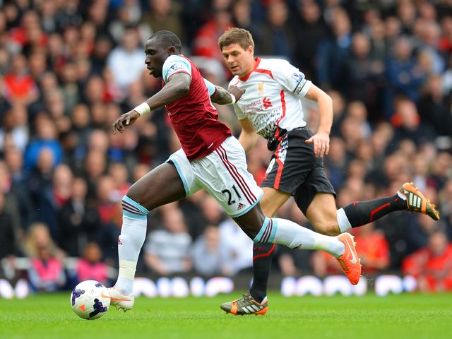 Diame gets away from Gerrard