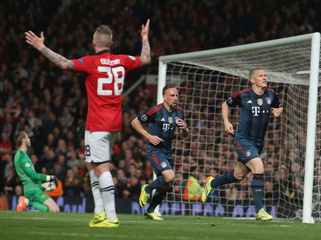 Bastian Schweinsteiger celebrates scoring the equaliser
