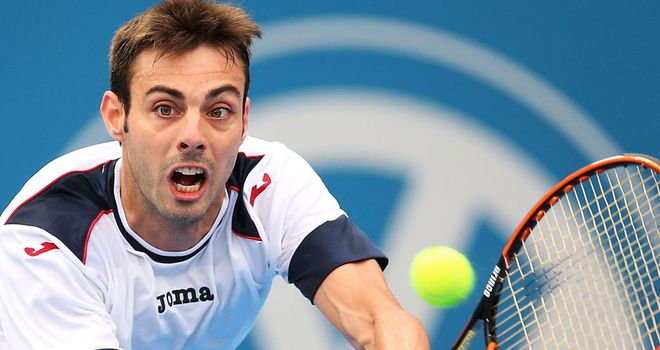 Marcel Granollers: Will face compatriot Guillermo Garcia-Lopez in Casablanca