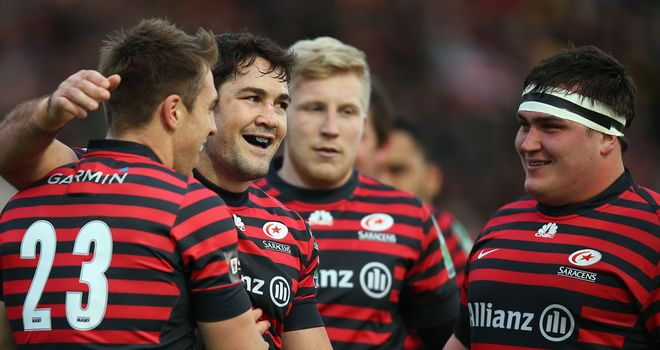 Saracens currently top the Aviva Premiership table
