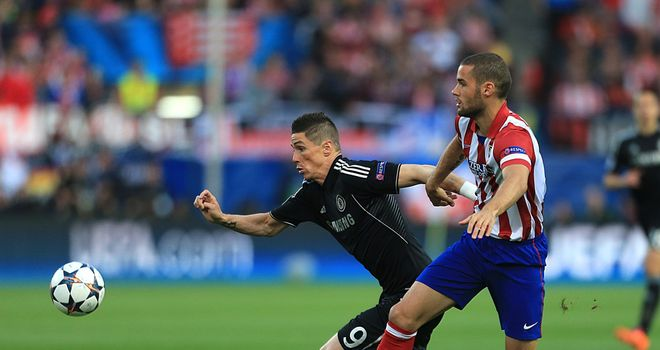 Fernando Torres could not find a way through against his former club