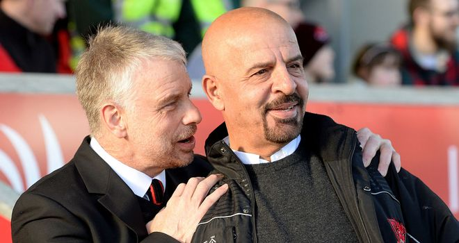 Brian Noble (left) has been offered a new post at Salford by owner Marwan Koukash (right)