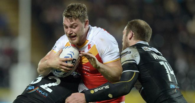 Elliott Whitehead: two tries for the Dragons