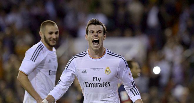 Gareth Bale: Celebrates after scoring the winner in Copa del Rey