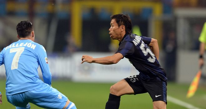 Yuto Nagatomo in action for Inter against Napoli