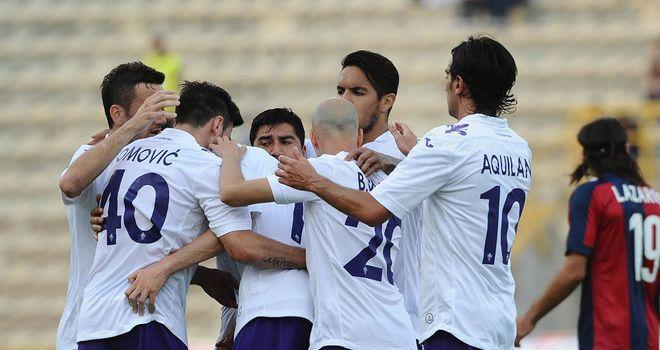 Josip Ilicic and Fiorentina celebrate his goal