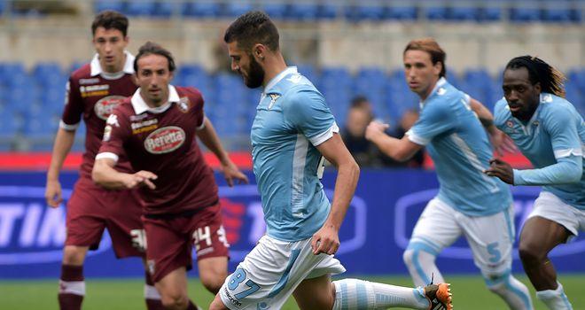 Antonio Candreva scores for Lazio from the penalty spot