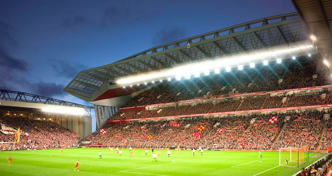 Anfield: An artist's impression of how the expanded ground will look