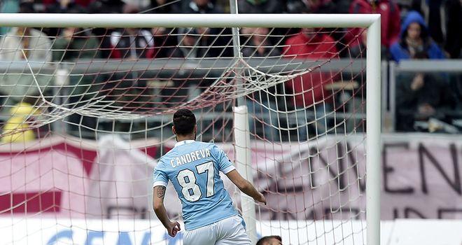 Antonio Candreva scores for the away side