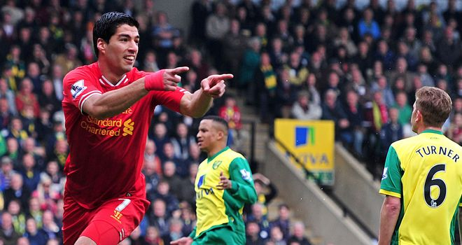 Luis Suarez: Liverpool striker is the top goal scorer in the Premier League this season
