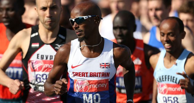 Mo Farah: The Briton finished down in eighth place after a disappointing run