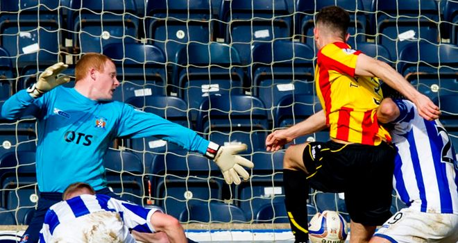 Aaron Taylor-Sinclair scores Partick's winner at Rugby Park