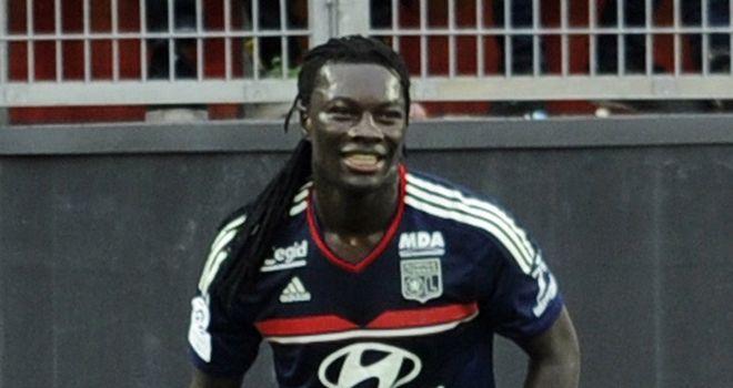 Lyon's Batefimbi Gomis celebrates