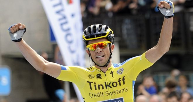 Alberto Contador dropped rival Alejandro Valverde on the final climb