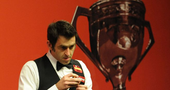 Ronnie O'Sullivan: In action at this year's event in Sheffield
