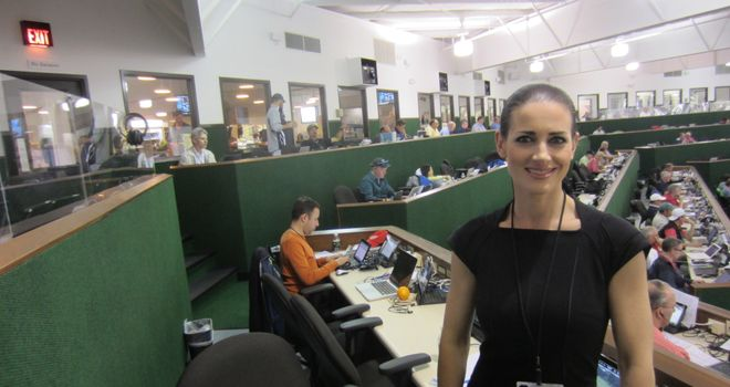 Kirsty in the media building
