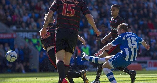 Callum McManaman: Scores his Wigan's third goal against Reading