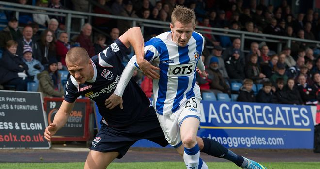 Michael Gardyne in action for Kilmarnock against his new club last season