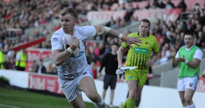Aaron Murphy: scored three of Huddersfield Giants' seven tries