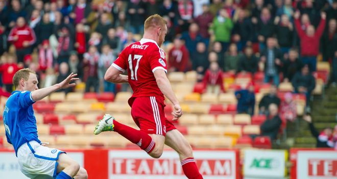 Adam Rooney: Equalises for Aberdeen at Pittodrie