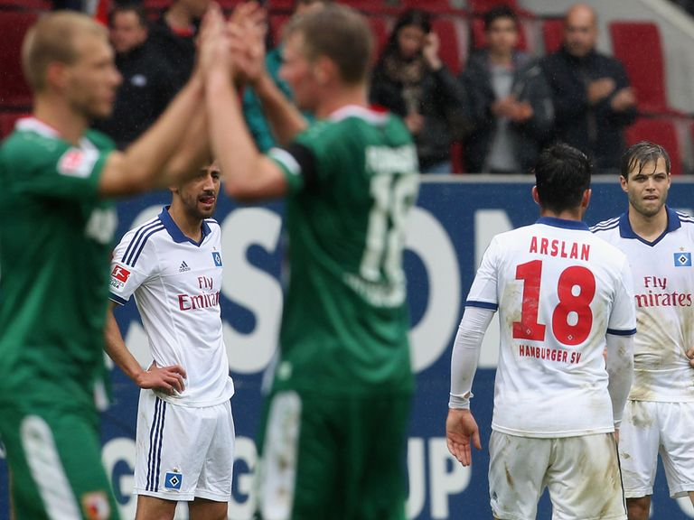 Hamburg plunge closer to the drop with defeat at Augsburg