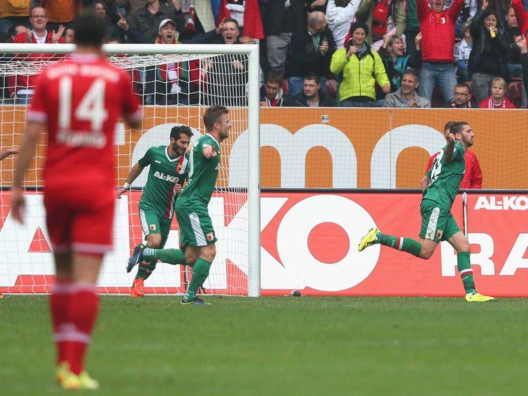 Sascha Molders celebrates the goal that beat Bayern Munich