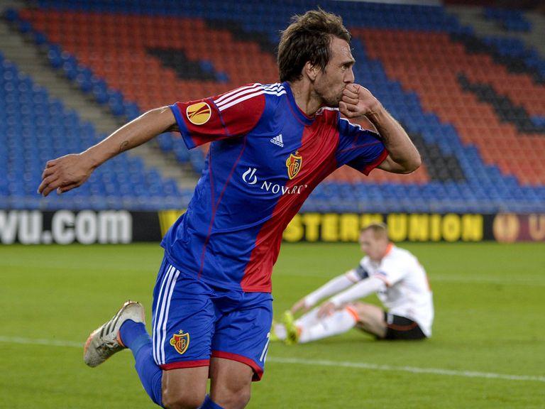 Matias Delgado was Basel's star in the 3-0 win over Valencia