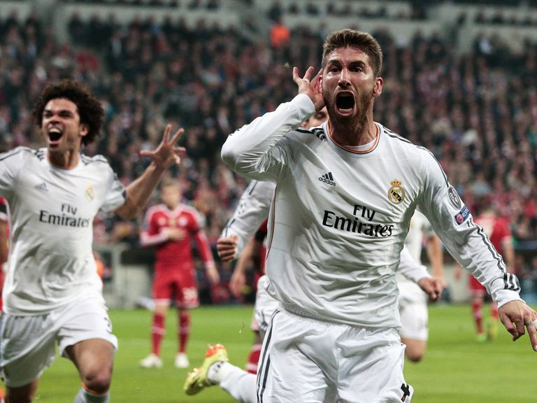 Sergio Ramos scored twice for Real Madrid in the semi-final second leg