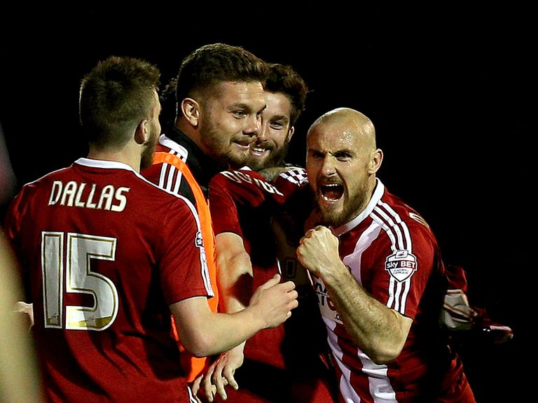 Alan McCormack of Brentford celebrates