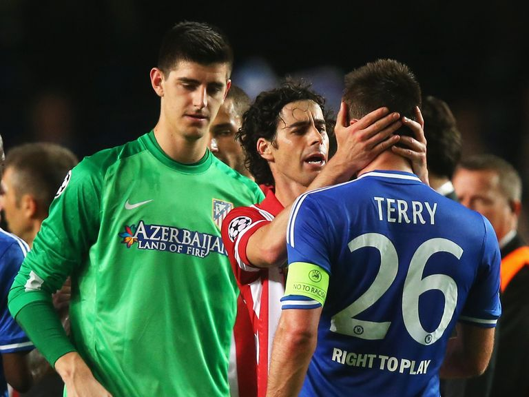 Tiago: Commiserated John Terry at full time on Wednesday night