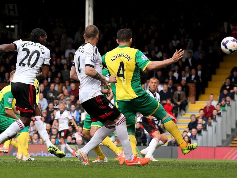 This Hugo Rodallega strike gave Fulham victory over Norwich