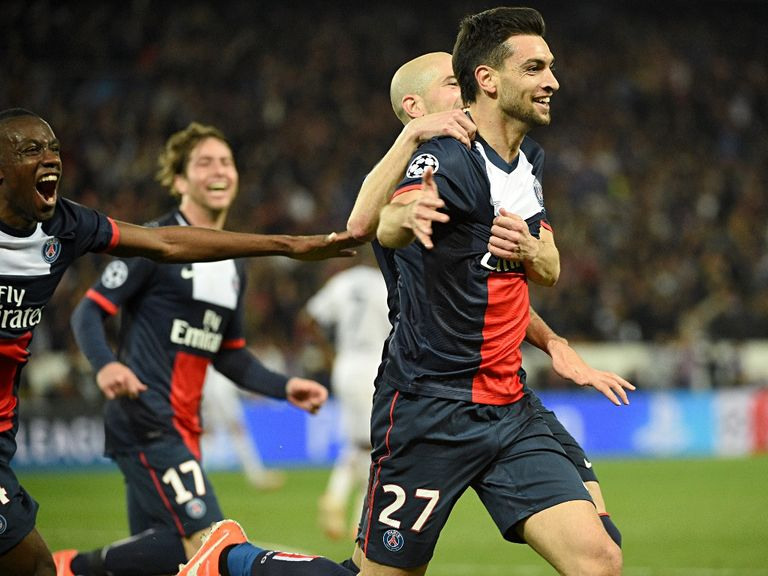 Javier Pastore scored late on in the first leg