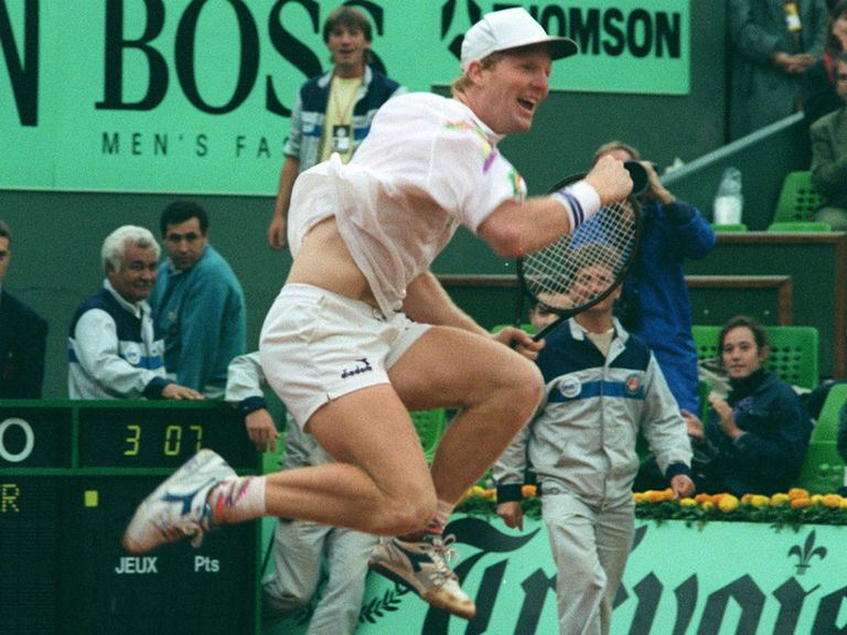 Back in the day: Courier won at Roland Garros twice in the early 1990s