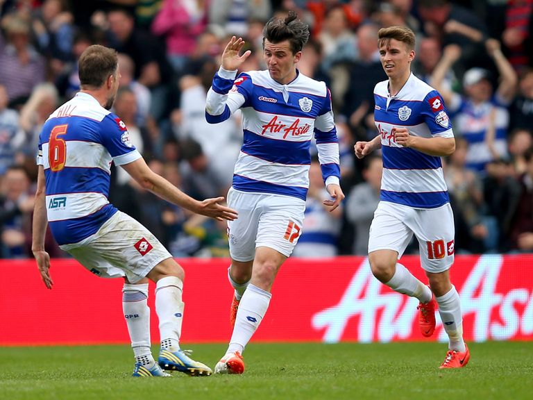 Joey Barton of Queens Park Rangers celebrates