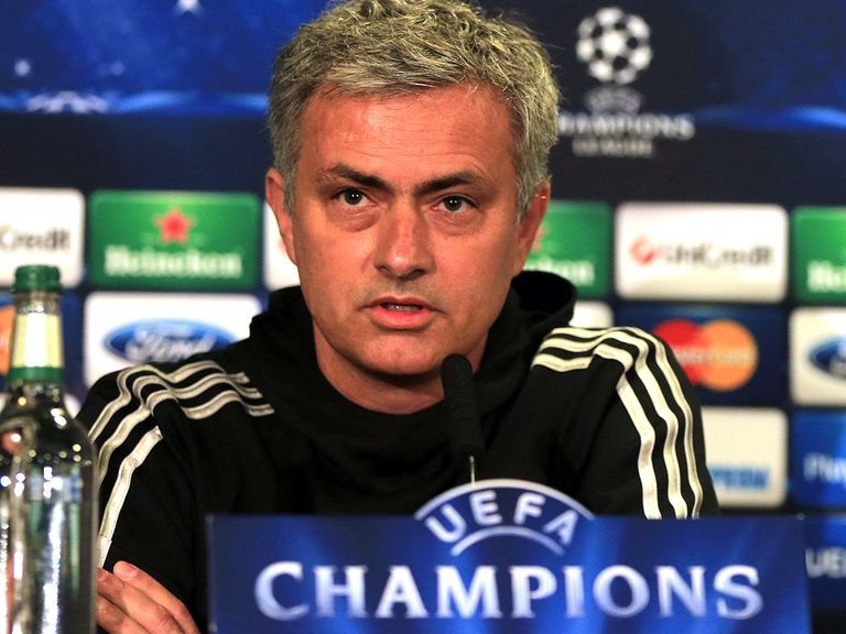 Jose Mourinho: His Chelsea side will meet Atletico Madrid