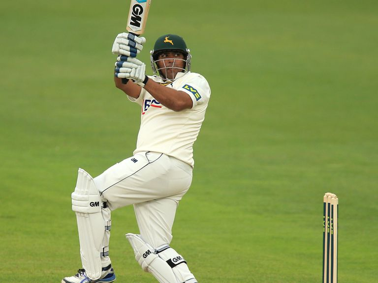 Samit Patel hits a six during a knock of 93