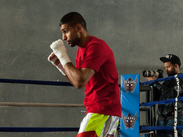Amir Khan: Preparing for his fight with Luis Collazo