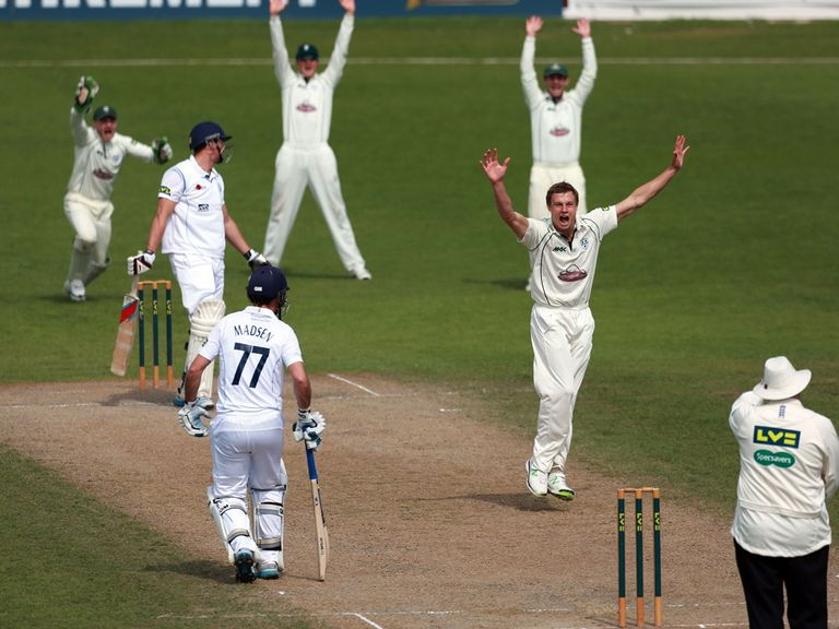 Charles Morris: 50 first-class wickets this season