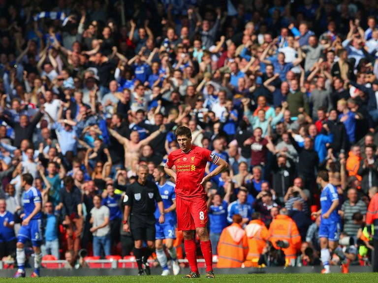 Steven Gerrard: Made a costly mistake at Anfield on Sunday