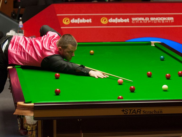 Mark Allen in action during his match against Michael Holt