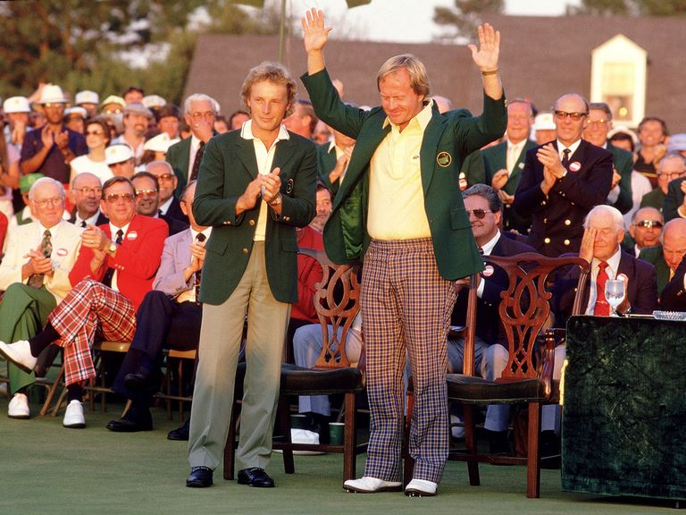 Jack Nicklaus won his sixth green jacket in 1986