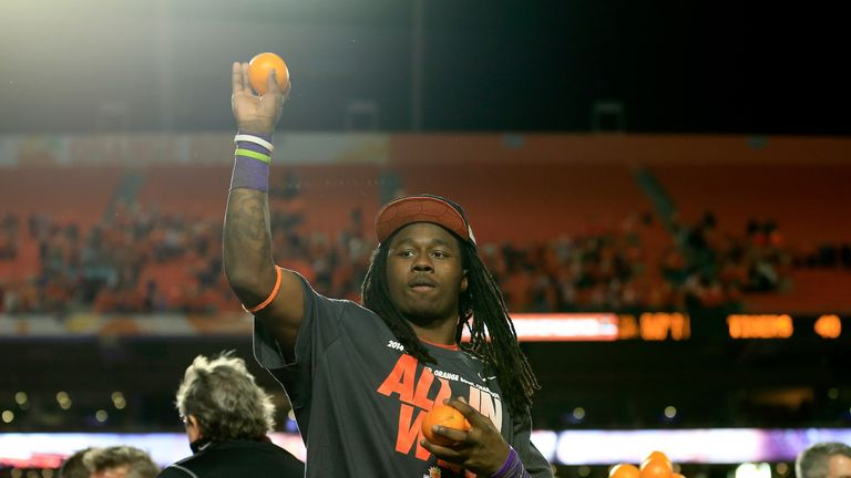 Clemson's Sammy Watkins is likely to be picked early in the Draft