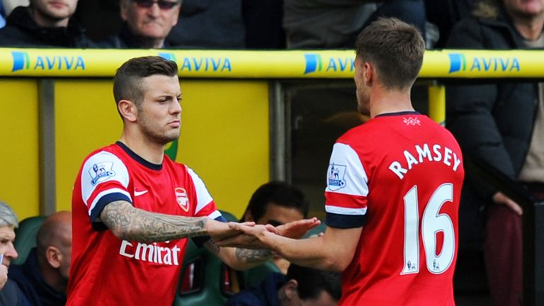 Jack Wilshere returns to action against Norwich