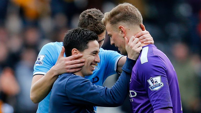 Samir Nasri, Edin Dzeko and Joe Hart: New deal on the cards for trio