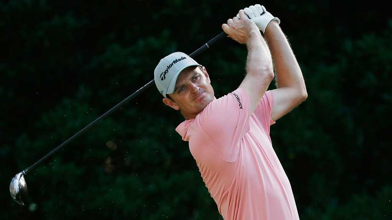 Justin Rose: Six birdies despite struggling on the range before his round